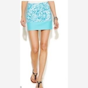Michael Kors Swirl Print Mini Skirt